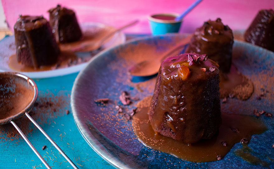 raw cacao sticky toffee pudding