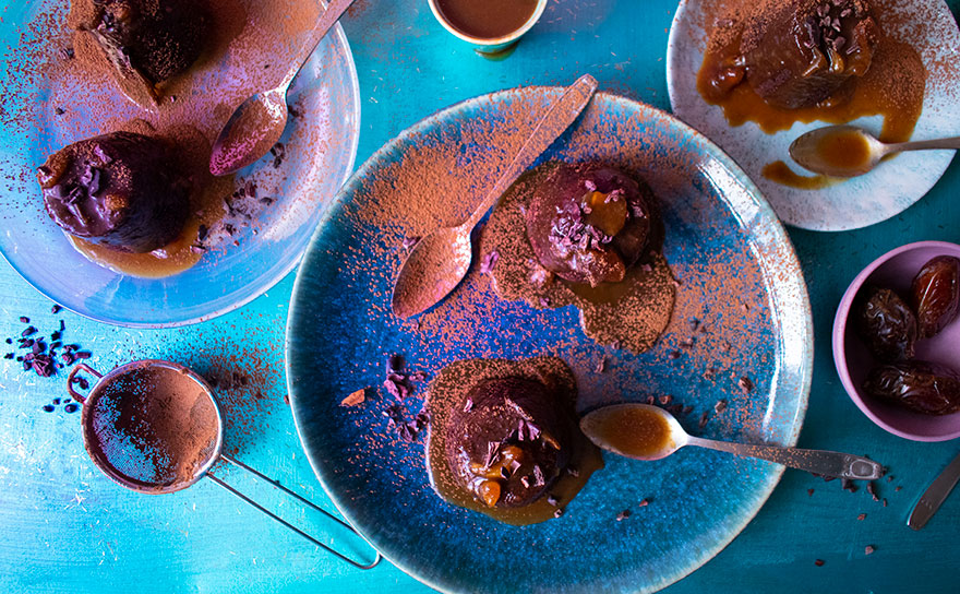 raw cacao sticky toffee puddings