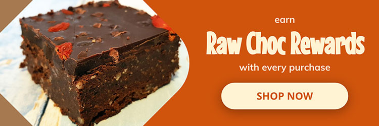 earn raw chocolate rewards with every purchase