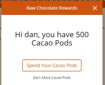 how to spend your raw chocolate rewards
