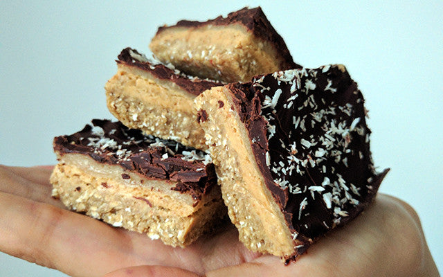 peanut butter slices on hand
