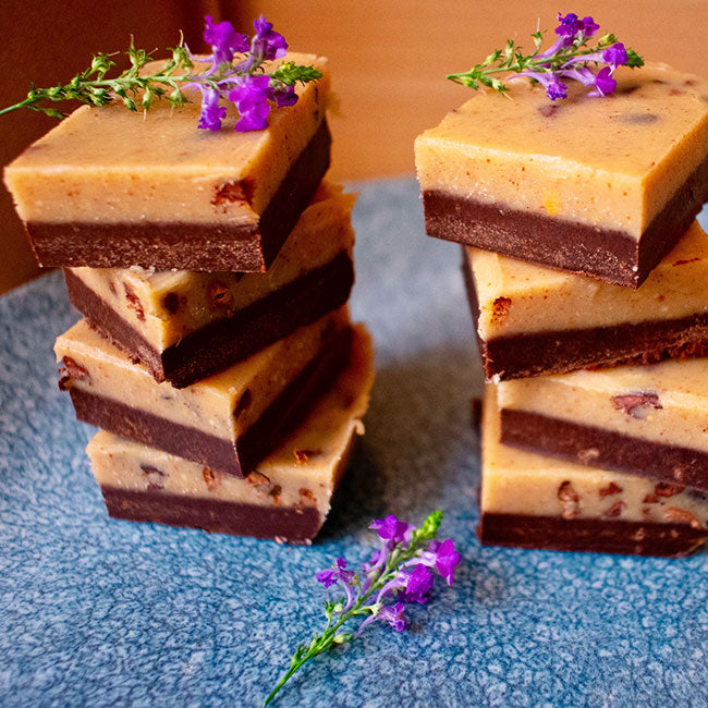 Raw Cacao and Peanut Butter Nibbly Fudge