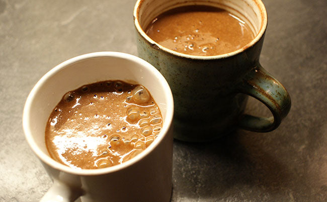 spiced vegan hot chocolate