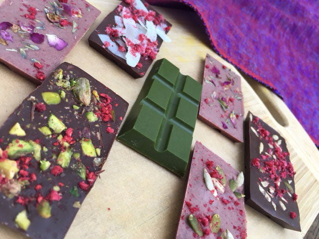 tickled pink raw vegan chocolate bars