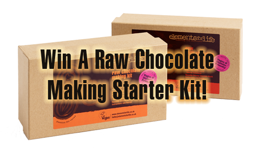 win a raw chocolate kit every month
