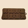 8 Christmas bears silicone chocolate mould
