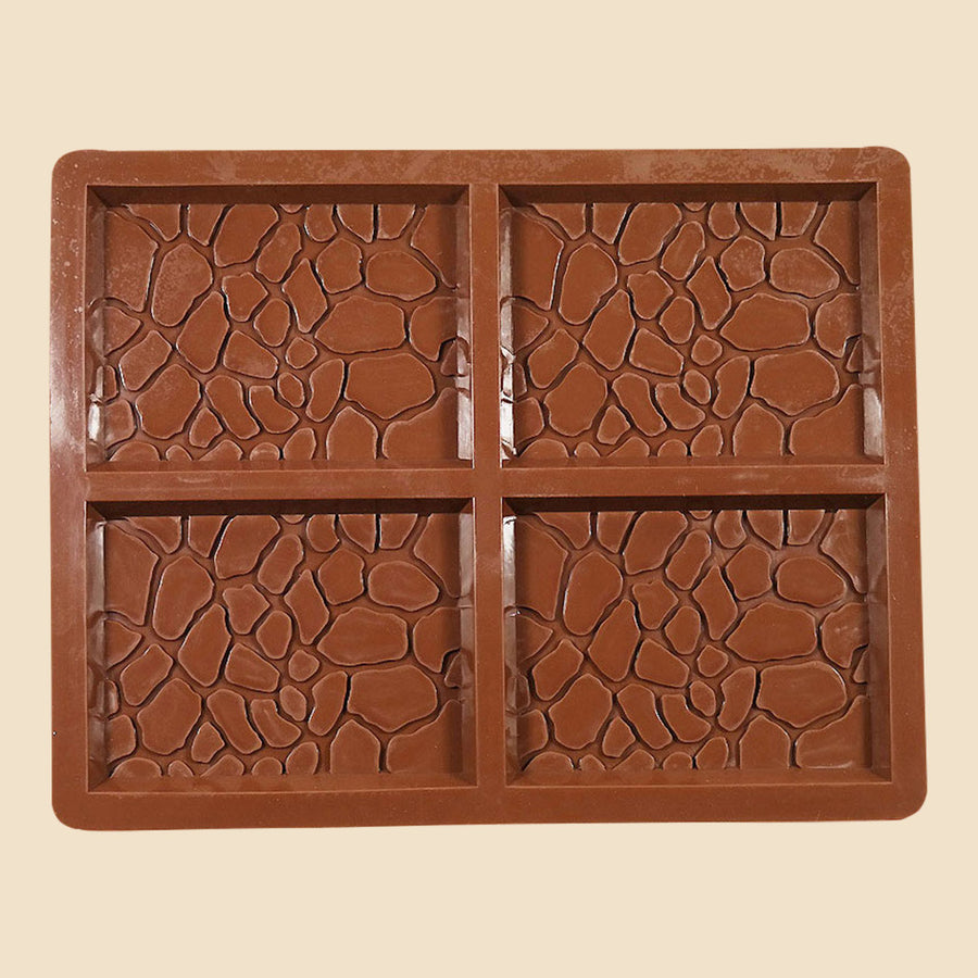 4 bar animal print silicone chocolate mould
