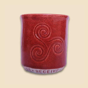 cacao ceremony ritual cup in orange