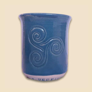 cacao ceremony ritual cup in teal