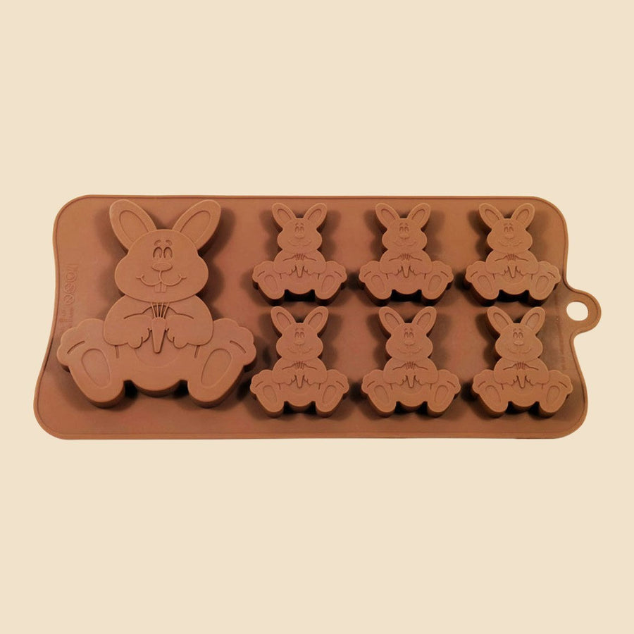 7 Easter Bunnies Chocolate Mould