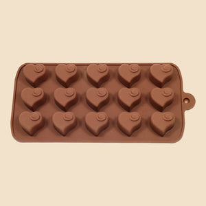 Heart Swirl Valentine Chocolate Mould
