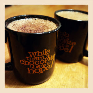 enjoy a mug or two of hot chocolate