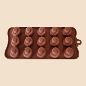 Spiral swirls silicone chocolate mould