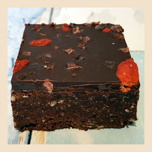 yummy scrummy raw chocolate brownie