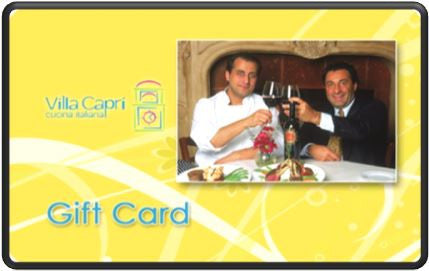 Villa Capri Carmel Valley $100 Gift Card
