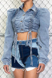 Scrunch & Puff Denim Jacket