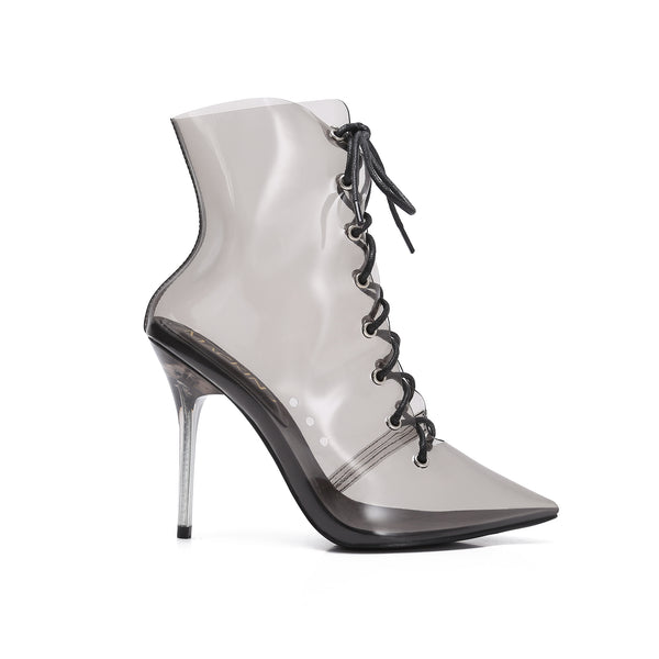 MJ Clear Lace Up Bootie
