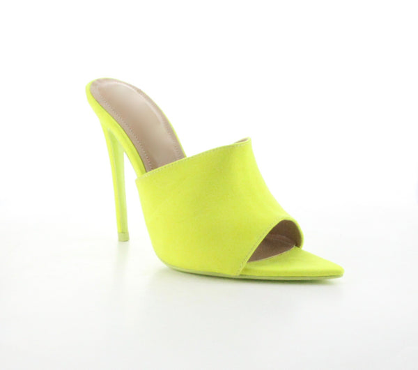 CR Neon Slide On Heels