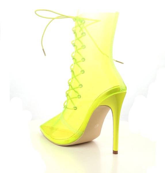 CR Clear Lace Up Booties