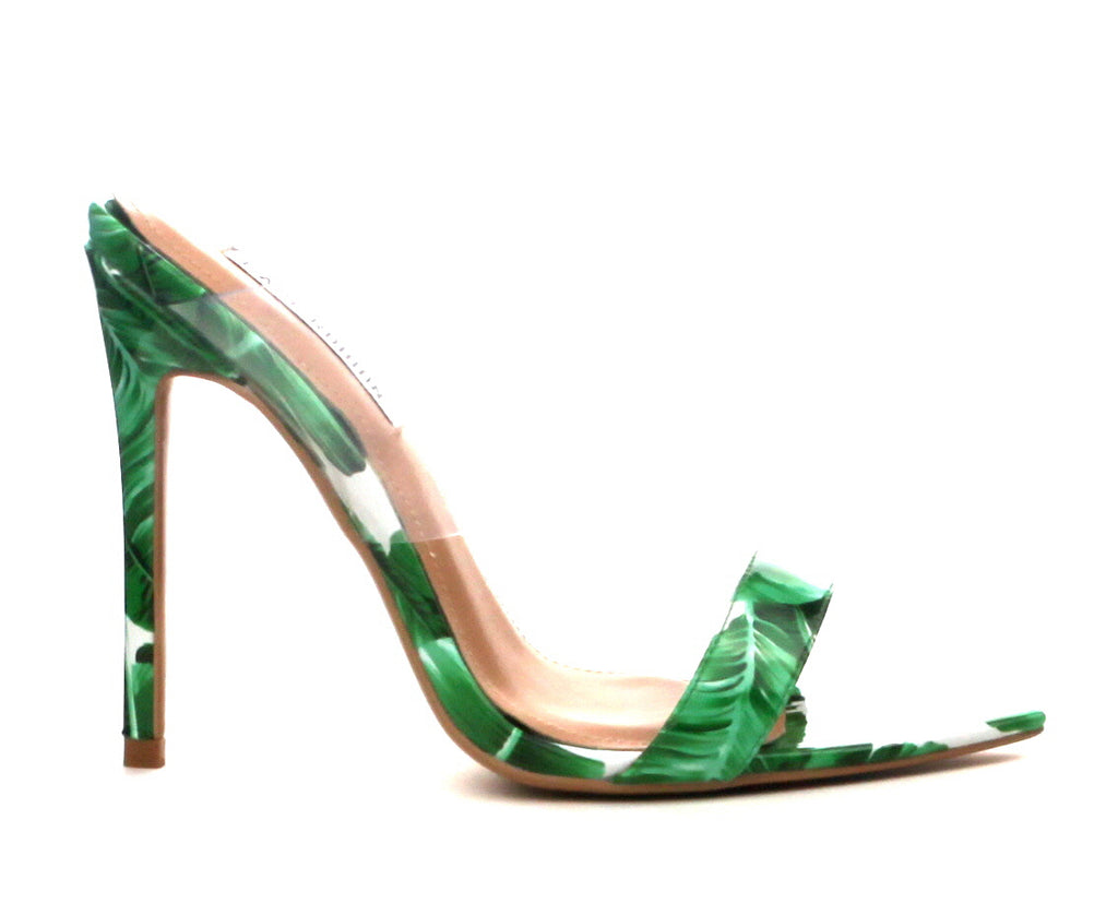 CR Green Leaf Heels