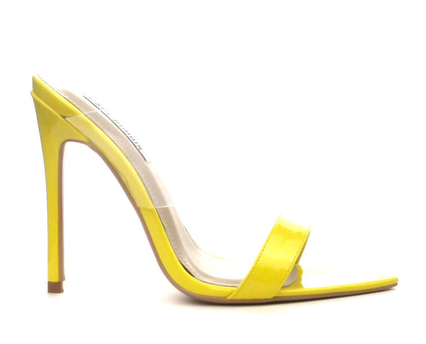 CR Yellow Strap Pointy Toe Heels