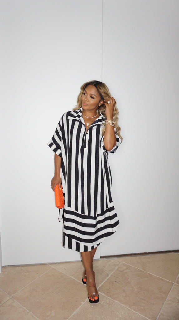 Stripe Out Shirt Dress