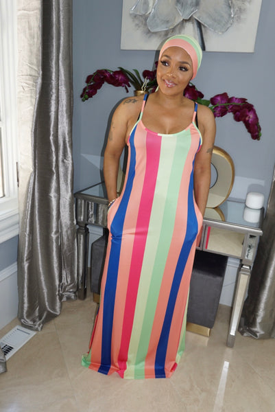 Big Colorful Stripe Dress