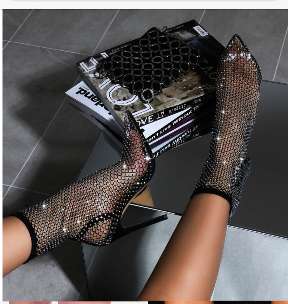 Bling Netted Pump