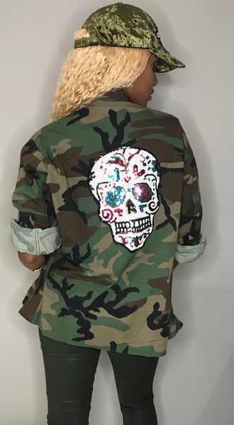 Camo Back Patch Jackets