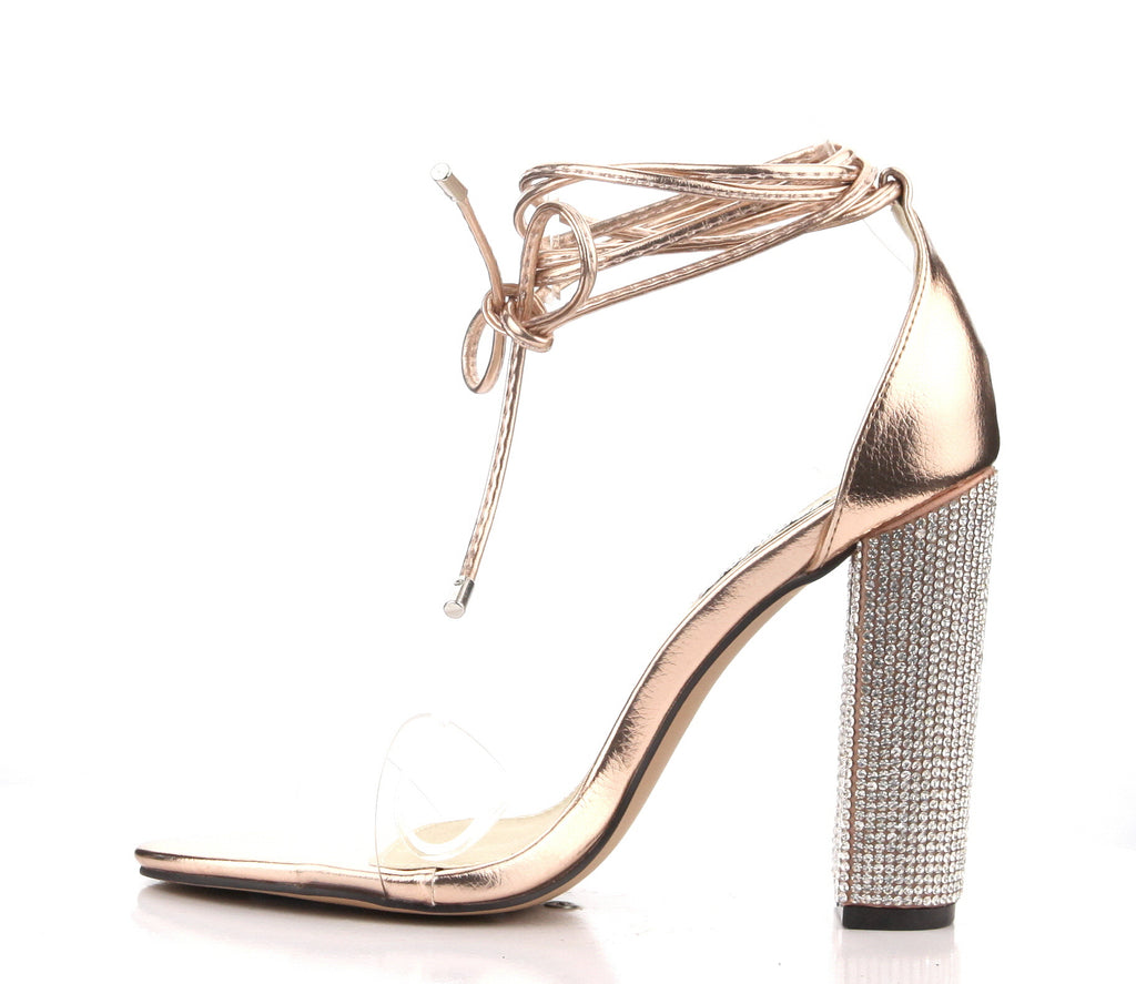 CR Bling Tie Up Heels