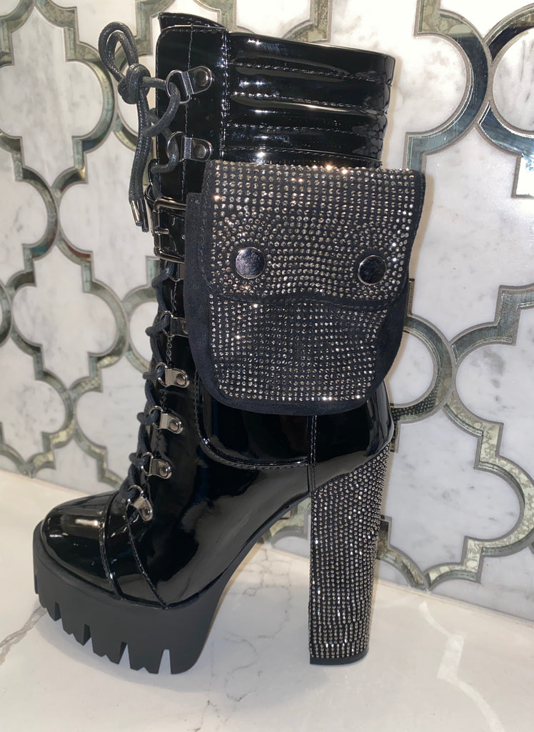 Bling & Pouch Boots