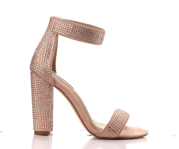 CR Blush Studded Heels