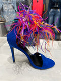Colored Feather Heels