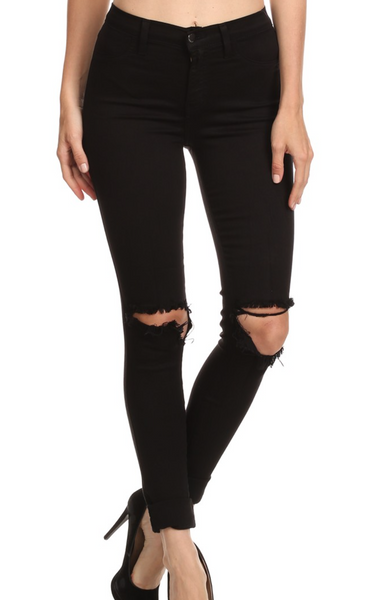 Black Out Knee Jeans