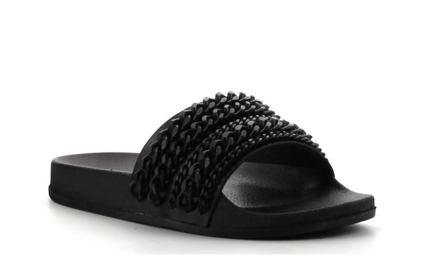 CR Black Chain Slides