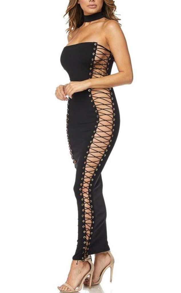 Tie Up Tube Dress