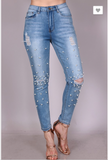 Light Pearl & Stone Jeans