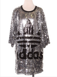 Didas Sequins Shirt Dress
