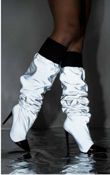 Aza Slouch Drip Boots Reflector