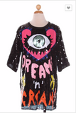 Design Sequins Eye Shirt  Dress