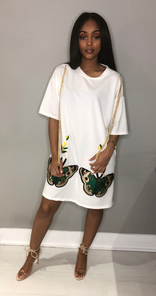 Butterfly Shirt Dress