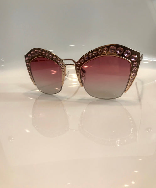 Cat Top Bling Shades