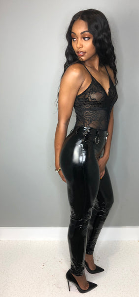 Fitted Latex Pants