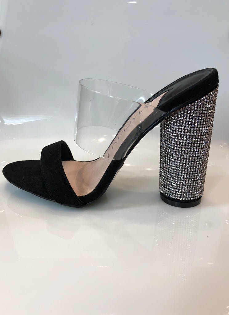 MJ Thick Bling Heel