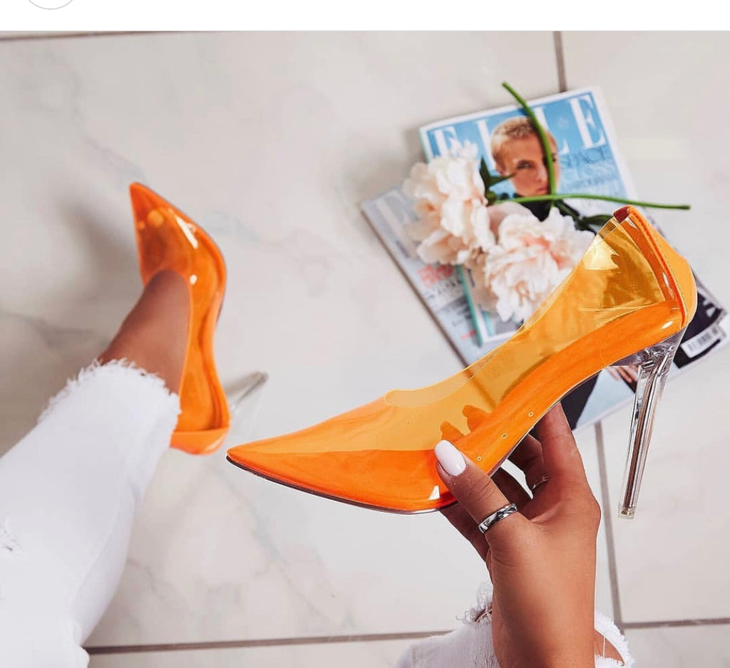 CR Clear Orange Pumps