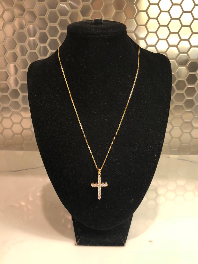 Crystal Cross Mini Necklace
