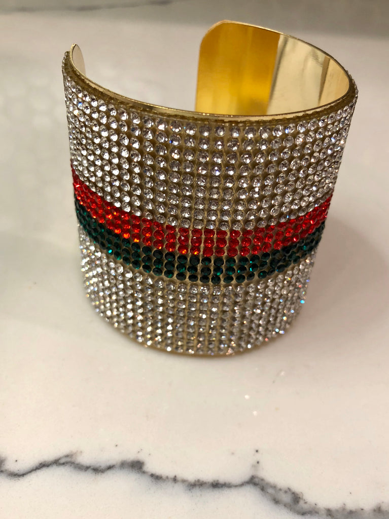 2 Stripe Bling Cuff