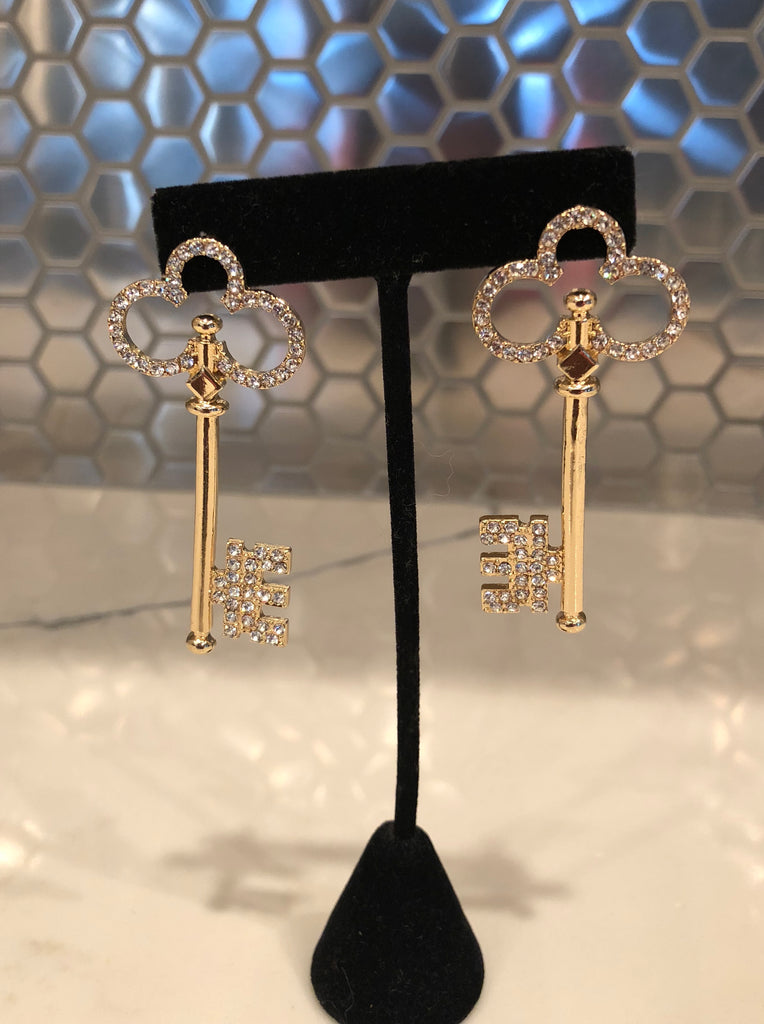 Clover Key Earrings