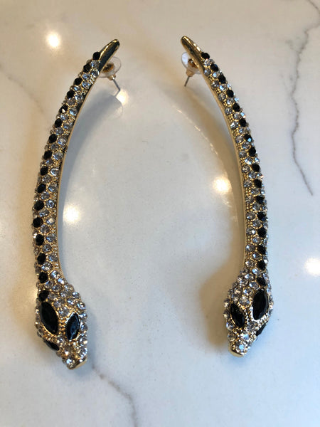Blinging Snake Earrings