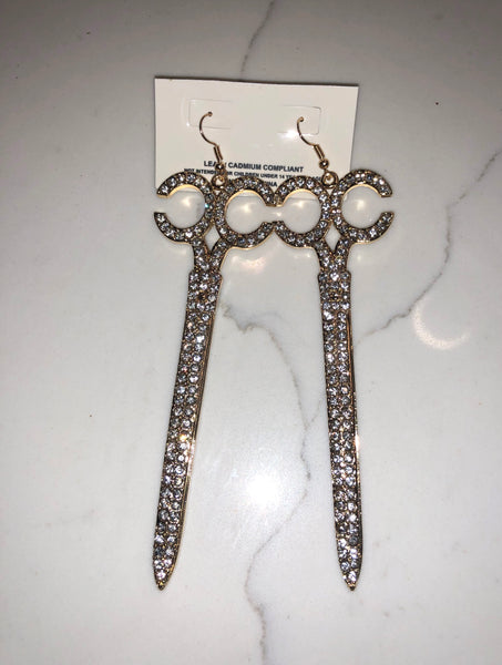 Big Scissor Earrings